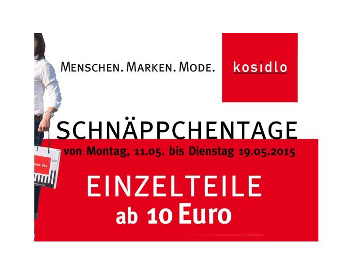 Schnäppchentage !!! (11. – 19. Mai)
